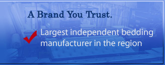 Jamestown Mattress is the largest independent manufacturer in the region.