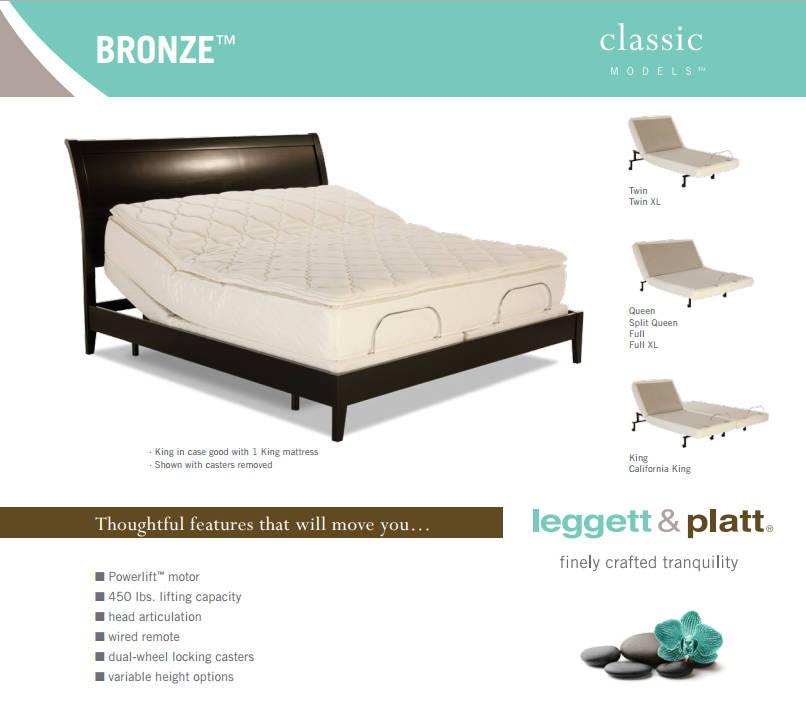 Bronze Classic Model Adjustable Beds