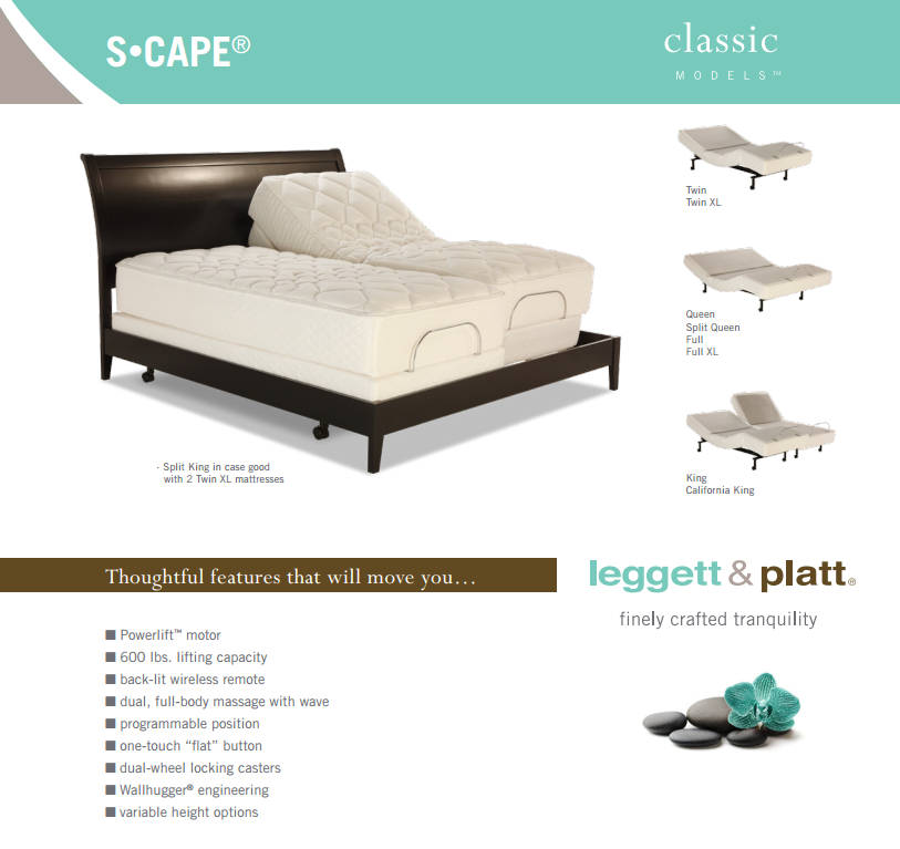 C-Scape Classic Model Adjustable Bed