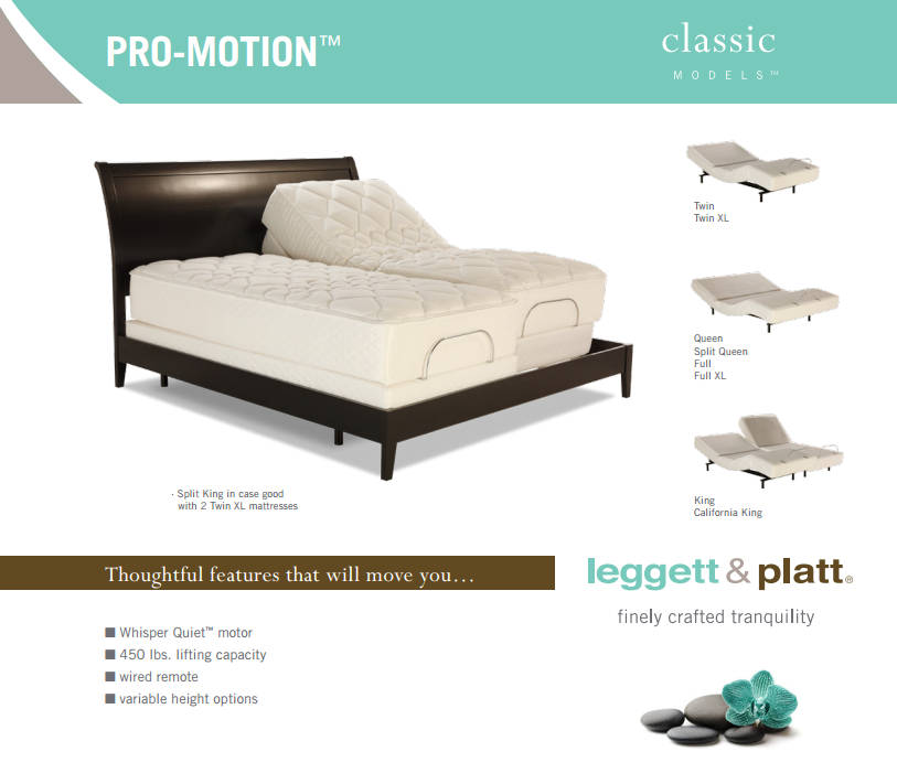 Pro Motion Classic Model Adjustable Bed